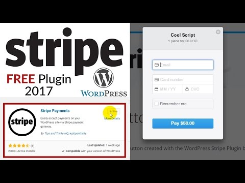 Stripe Payments with Wordpress 2017 - Free Stripe Payment Plugin for Wordpress