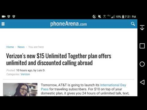 Verizon Introduces $15 Unlimited Together Plan That Offers Unlimited & Domestic Calling Abroad