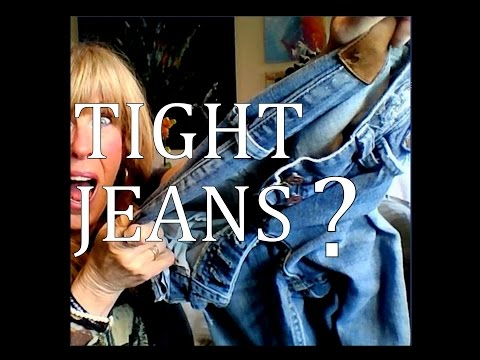 Video to STRETCH TIGHT JEANS   how to