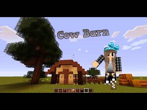 Minecraft EASY cow barn /TUTORIAL