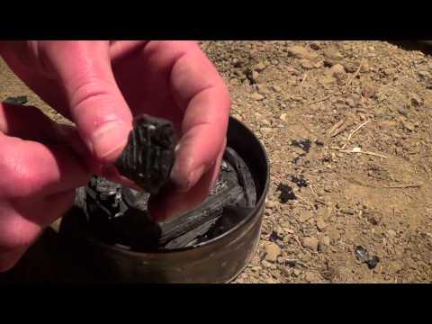Making charcoal.