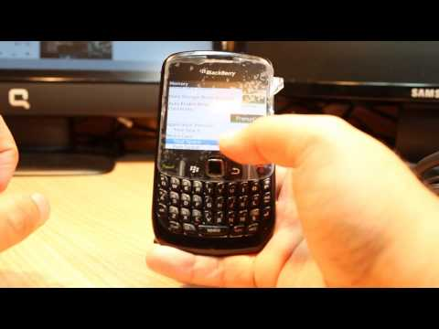 Format SD memory card at Blackberry curve 8520