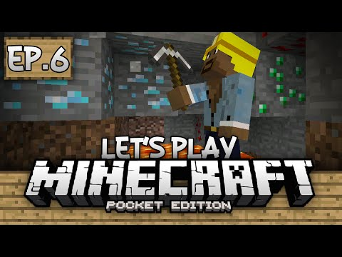 Survival Let's Play Ep. 6 - Diamond Hunting!!! - Minecraft PE (Pocket Edition)
