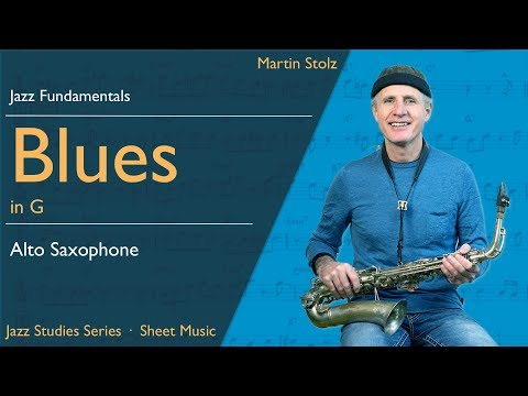 Play a jazzy Blues in concert Bb - with solo transcription for alto saxophone