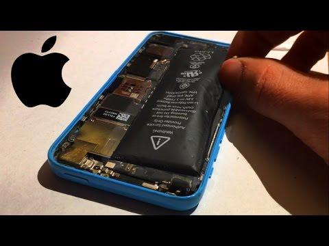 Opening dangerous swollen iphone battery