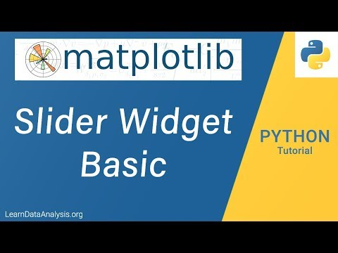 How to create a Slider using matplotlib library in Python | Python Data Visualization