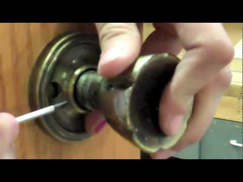 How to Remove a Door Knob with No Visible Screws