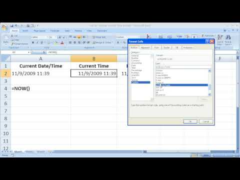 Excel Tips 28 - Display The Current Time in Excel Down to the Second