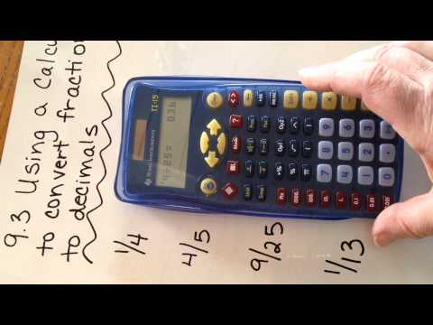 Mrs. Deom Lesson 9.3 Using a calculator to convert fractions to decimals