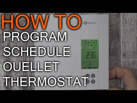 How to Schedule Ouellet Thermostat