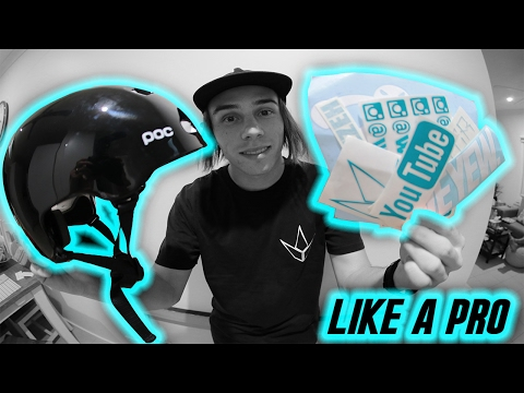 HOW TO BE PRO | STICKERING YOUR HELMET!