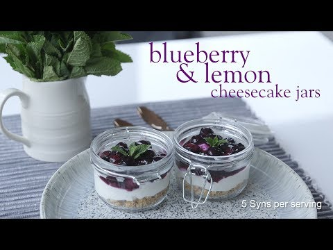 Slimming World blueberry and lemon cheesecake jars -  5 Syns