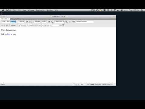 Dreamweaver Tutorial - Internal & External Links