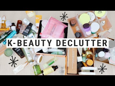 K-BEAUTY DECLUTTER!!  i did NOT realize i had this much stuff!!