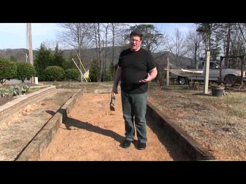 Raised Bed Garden Made of Railroad Cross Ties - Part 1
