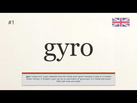 How To Pronounce 1 Gyro British English