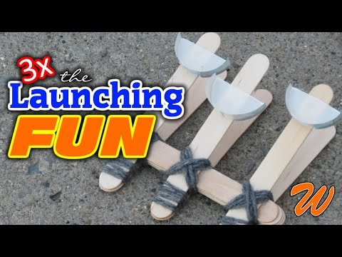 Easy DIY Catapult - Made with Popsicle Sticks