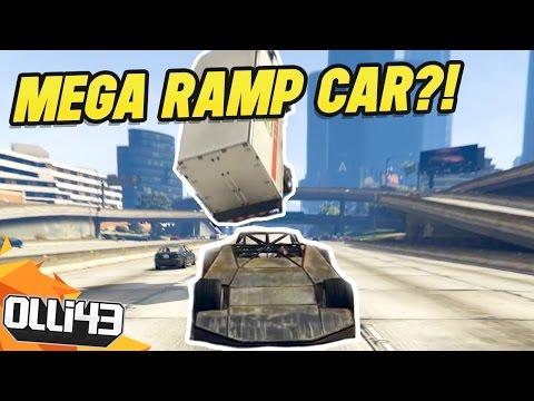 MODDING THE MEGA RAMP CAR! (GTA 5 Mods)