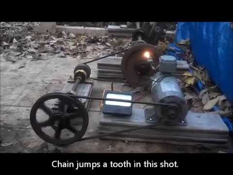 Water Wheel Electricity Generation pt1