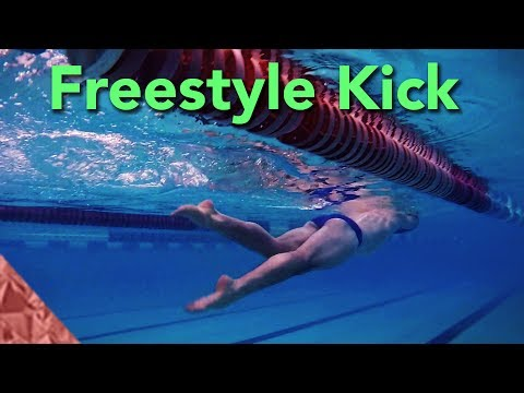 Freestyle kick technique. Swimming front crawl. Improve your position