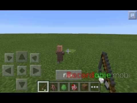 Minecraft pe: fishing rod glitch.