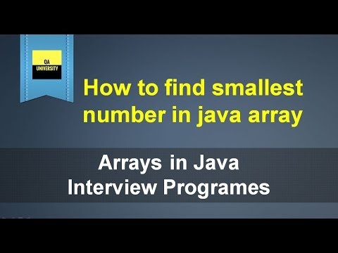 How to find smallest number in an array | Java Interview questions and Answers
