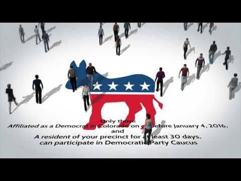 Colorado Caucus 101: Voting Democrat!