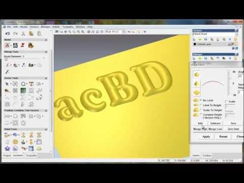 create relief from vector with ArtCAM 2008, artcam relief tutorial