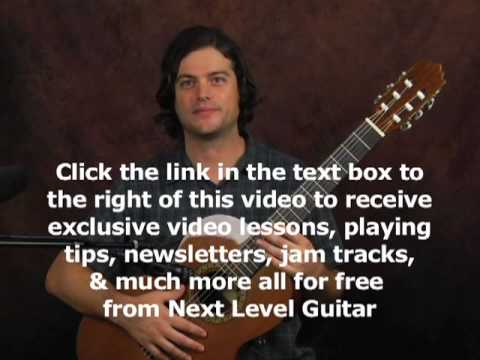 Learn to play finger style classical guitar scales and chords lesson on nylon string