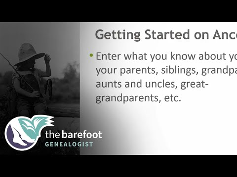 Getting Started on Ancestry