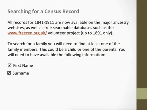 Searching for UK Census Records