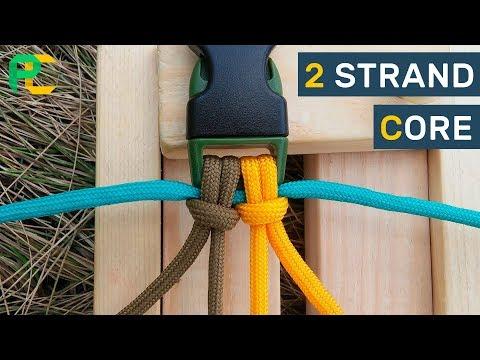 2 strand core for paracord bracelet