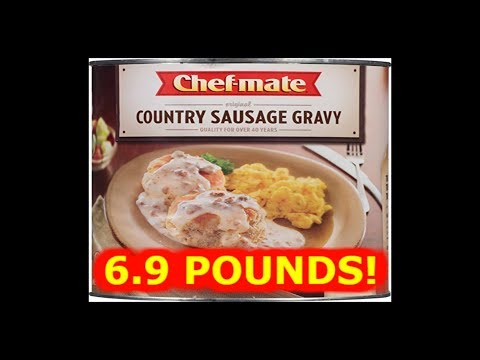 6 lb 9 oz Can of Sausage Gravy!! - WHAT ARE WE EATING?? -The Wolfe Pit