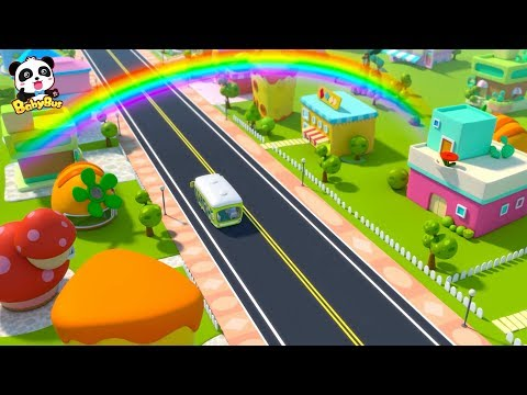 Take Baby Bus to See Rainbow Kingdom | BabyBus Car Animation & Song Compilation | BabyBus