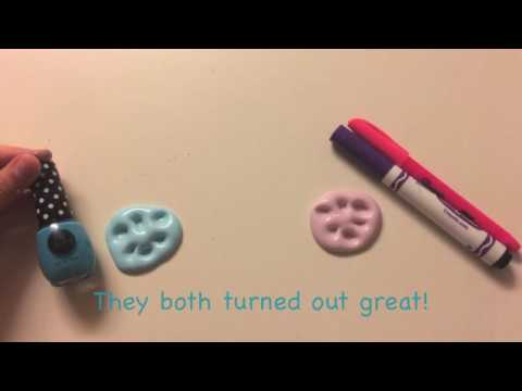 2 Ways to color your slime AFTER making it! (No food coloring or acrylic paints)