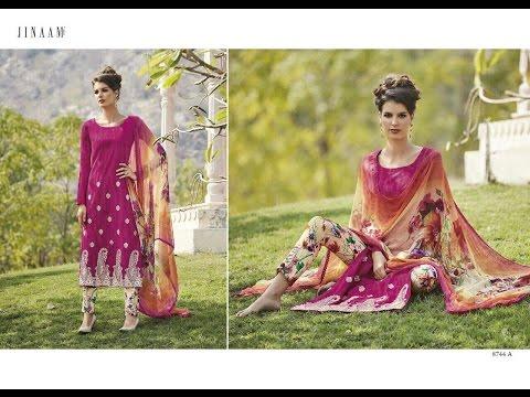 Latest Indian Salwar Kameez Collection 2017 || Jinaam Dress pvt.ltd || Jinnam Fairy Cotton
