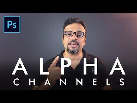 Alpha Channel in Adobe Photoshop Urdu / Hindi