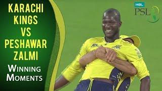 PSL 2017 Playoff 3: Karachi Kings vs. Peshawar Zalmi - Winning Moments