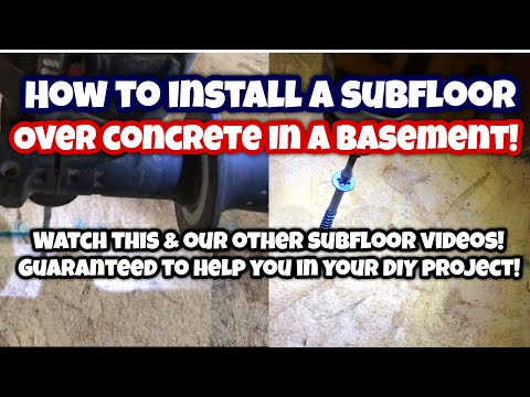 How to install a SUBFLOOR OVER CONCRETE
