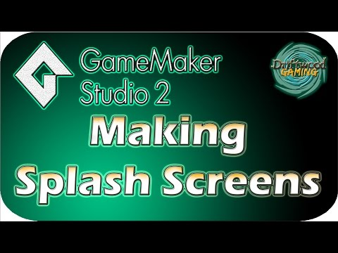 GMS 2 Tutorial - Making Splash Screens - GameMaker Studio 2 Tutorial
