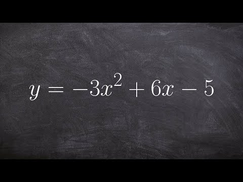 Completing the square to write a quadratic from standard form to vertex form