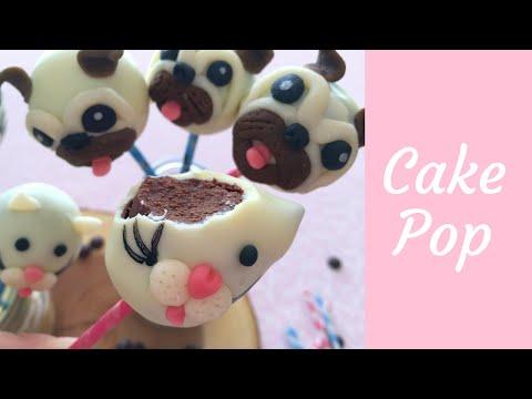 CAKE POP PUGS E GATOS! - BOLO NO PALITO ♡ RECEITA EXCLUSIVA DO ATELIÊ BELLARIA