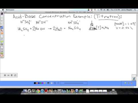 Titration Example Problem