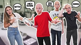 SHAVING MY HEAD BALD To See How My GIRLFRIEND REACTS **We Broke Up??** 👨🦲👨🦲|Lev Cameron