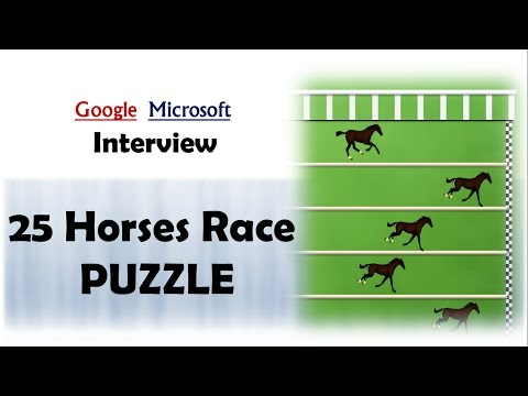 Difficult Puzzle || 25 Horses Race || Asked in Google and Microsoft Interviews