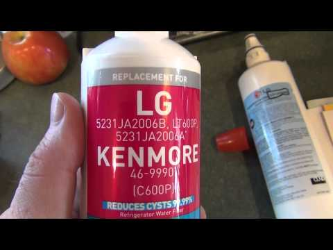LG/Kenmore Refrigerator Water Filter - Comparison/Replacement