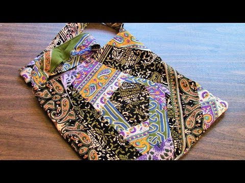 [SOLD] eBay Auction - OOAK Crazy Quilt Tote Bag - India Fabric - Handmade by Darlene!
