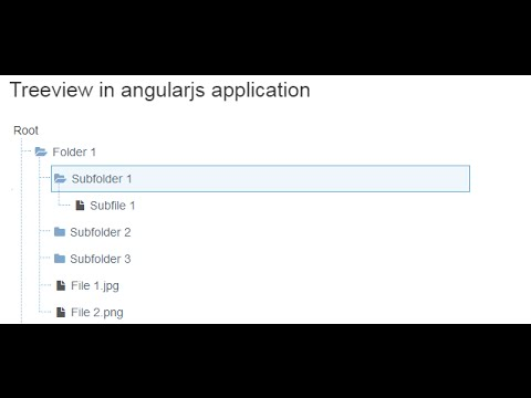 Treeview in AngularJS application