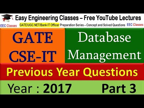 DBMS SQL query using ALL and ANY keywords Based Questions Solutions of GATE 2017