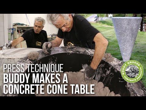Making a Concrete Cone Table with Buddy Rhodes - Advanced Press Technique